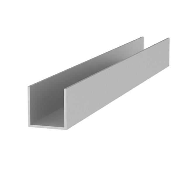 U-SHAPE ALUMINUM PROFILE 20.2x20.2 ANODISED